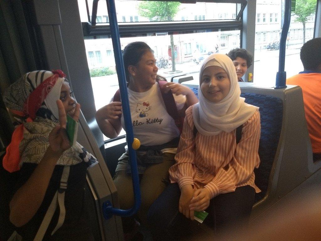 In de tram